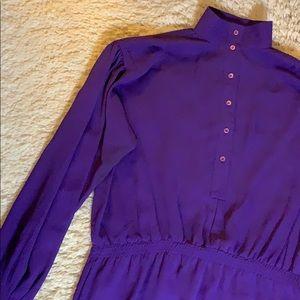 VINTAGE 80s Sheer Purple Dress